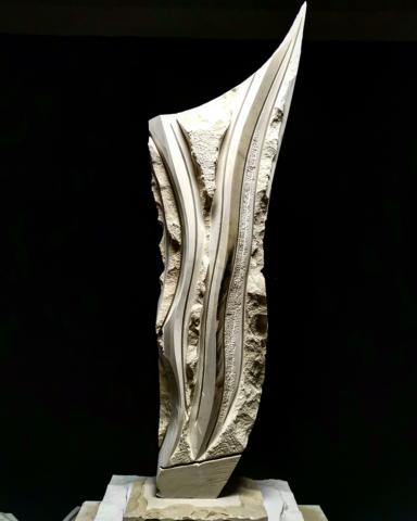 Kamena skulptura jedrenjak, dimenzija 100 cm, cena 3000€